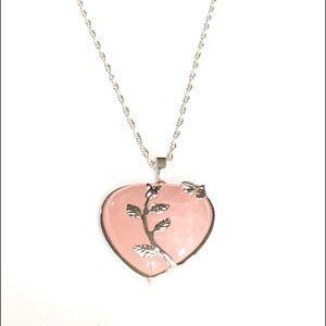 Jewelry - Rose Quartz Heart Pendant